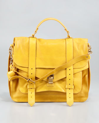 PS1 Large Satchel Bag, Mustard