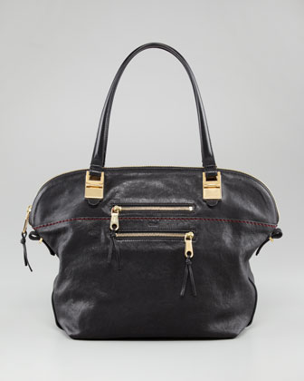 Angie Lambskin Shoulder Bag