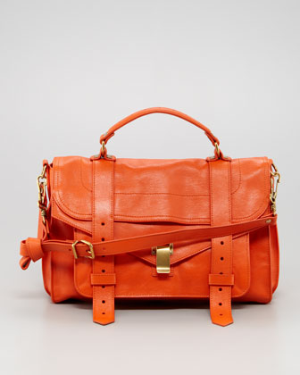 PS1 Medium Satchel Bag, Orange