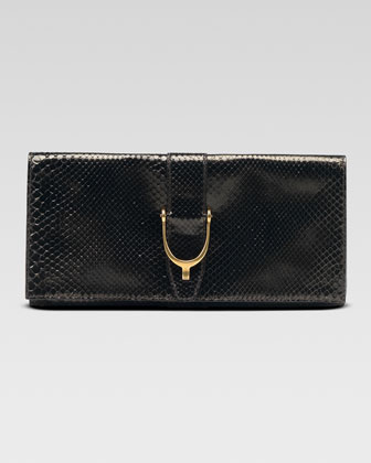 Soft Stirrup Python Clutch Bag