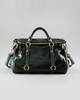 Leather Bow Bag