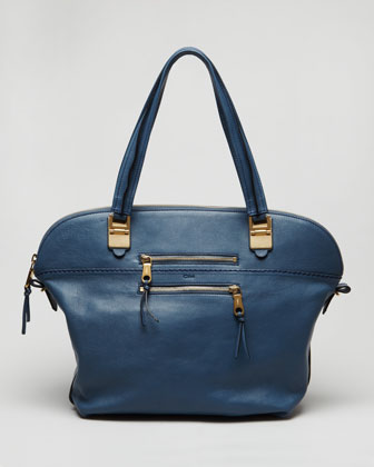 Angie Large Shoulder Bag, Fjord Blue