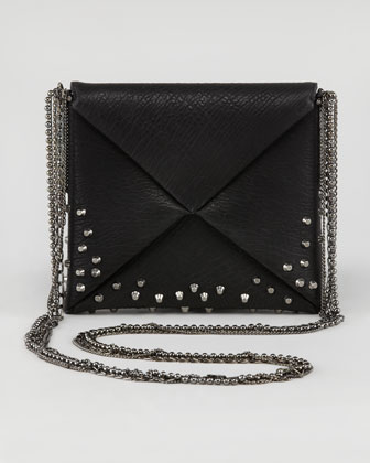 Origami Studded Square Crossbody Bag