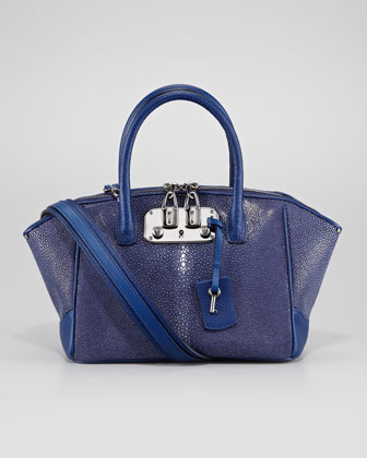 Brera Stingray Satchel Bag, Midnight