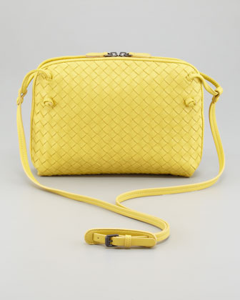 Veneta Small Crossbody Bag, Yellow