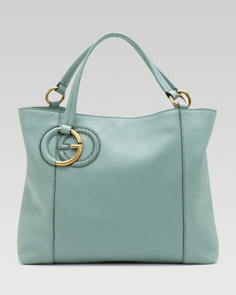 Twill Leather Tote, Splash