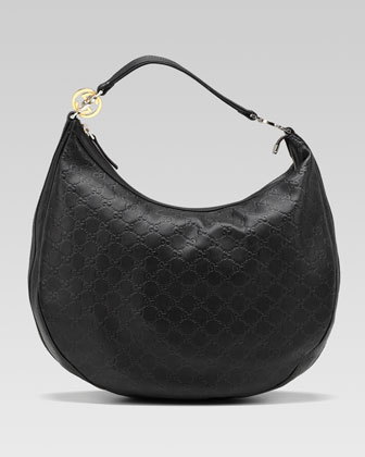 GG Twins Large Hobo Bag, Black