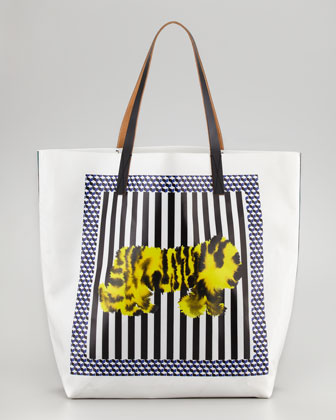 Tiger-Print Tote Bag