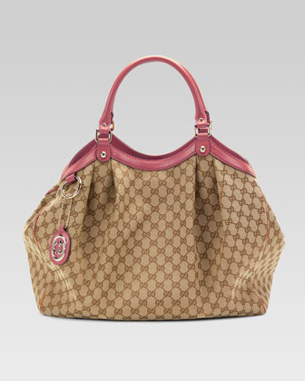 Sukey Large Original GG Canvas Tote, Soft Rose