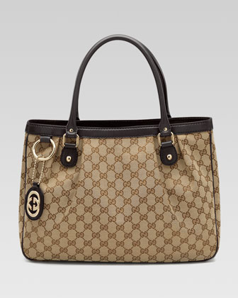 Sukey Original GG Canvas Tote, Cocoa