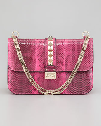 Ayers Snakeskin Lock Bag