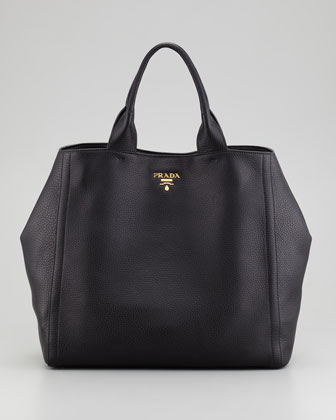Daino New Large Tote Bag, Nero