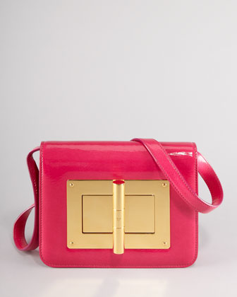 Natalia Medium Hot Pink Patent Shoulder Bag