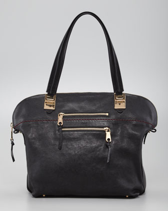 Angie Medium Shoulder Bag, Black