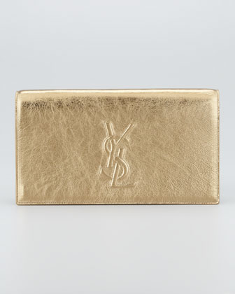 Metallic Belle du Jour Clutch Bag, Pale Gold