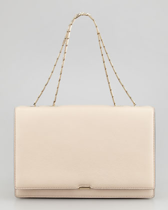 Hexagonal Chain Shoulder Bag, Powder