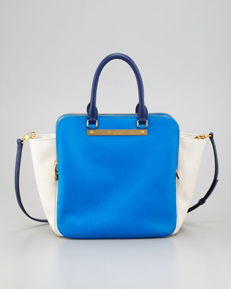 Goodbye Columbus Bentley Colorblock Tote Bag, Blue