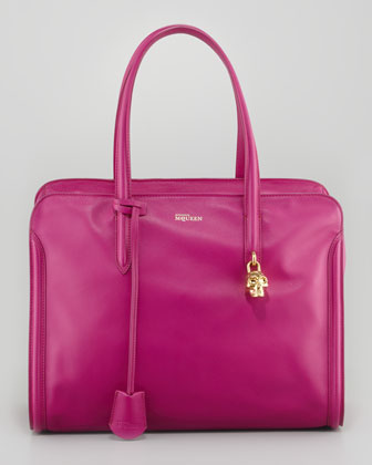 New Padlock Medium Satchel Bag, Pink