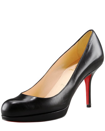 Leather Crescent-Toe Pump