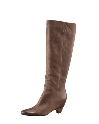 Hidden-Wedge Knee Boot