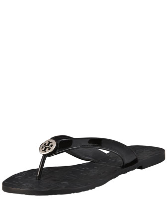 Thora Patent Leather Thong Sandal