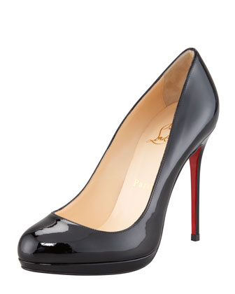 Filo Patent Leather Platform Red Sole Pump