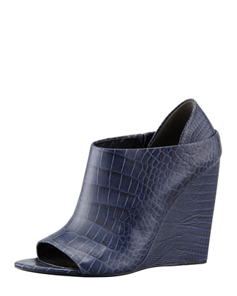 Alla Crocodile-Lizard-Print Wedge