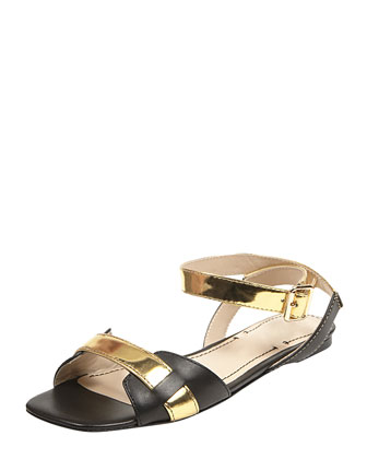 Elizabeth And James Two-tone Ankle-wrap S