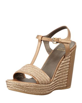 Braided Raffia Wedge Sandal