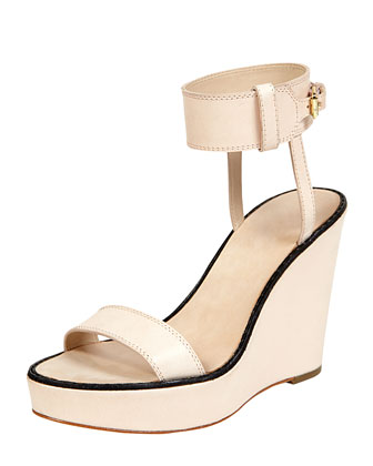 Elizabeth And James Brit Ankle Cuff Wedge