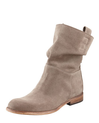 Umbria Snap-Back Ankle Boot, Taupe