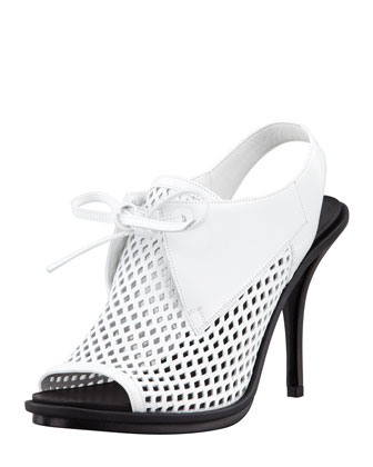 Balenciaga Leather Mesh Glove Slingback
