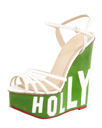 Charlotte Olympia Hollywood Lettered Wedg