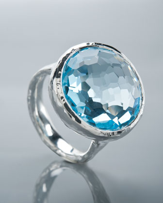 Blue Topaz Lollipop Ring