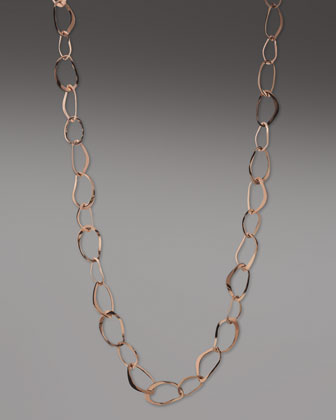 Rose Sculpted Oval Necklace, 36