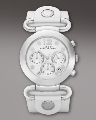 MARC by Marc Jacobs Molly Chronograph Watch, White