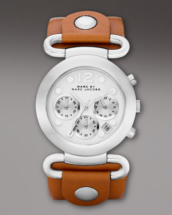 MARC by Marc Jacobs Molly Chronograph Watch, Brown