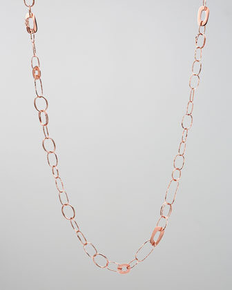 Rose Lite Links Necklace, 32