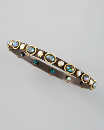 Midnight Mother-of-Pearl Bangle