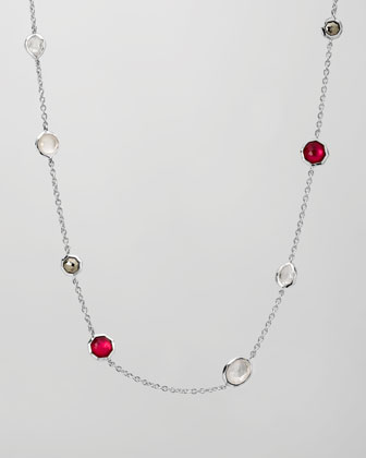 Multi-Stone Station Necklace, 18