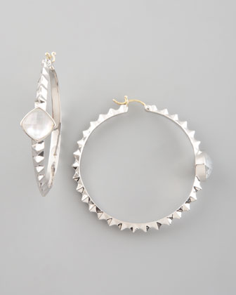 Crystal Haze Hoop Earrings