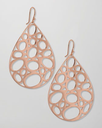 Rose Gold Digital Lace Earrings