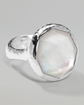 Mother-of-Pearl Octagon Ring