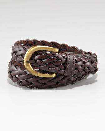 Oscar De La Renta Braided Leather Belt