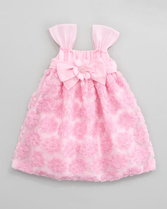 Rose Chiffon Ribbon Dress