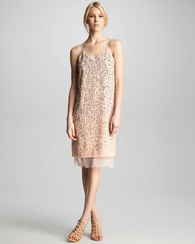 V Neckline Polyester Dress