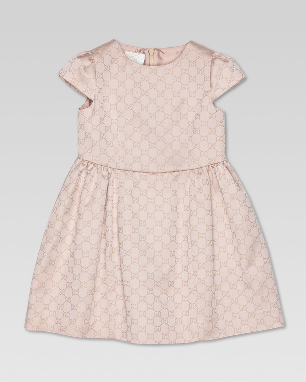 GG Jacquard Satin Dress